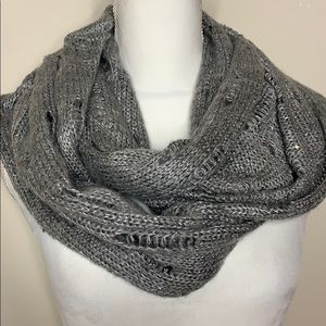 Express Infinity Scarf Grey with Sequence
